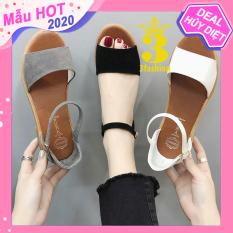 Giày Sandal Nữ 3Fashion Da Mềm Gót Vuông 3,5CM Thiết Kế Trẻ Trung – 2923