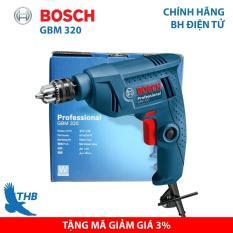 Máy khoan cầm tay Máy khoan xoay Bosch chính hãng GBM 320 công suất 350W đầu cặp khoan sắt tối đa 10mm