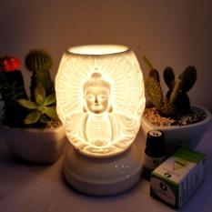 Đèn Xông Tinh Dầu Gốm Bát Tràng Hình Phật + Tặng Tinh Dầu 10ml (mùi tự chọn)