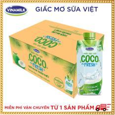 Thùng 24 chai Nước dừa tươi Cocofresh 330ml