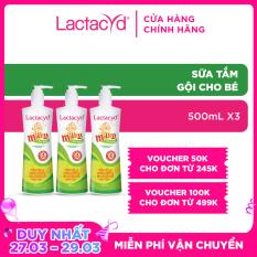Bộ 3 chai Sữa tắm gội trẻ em Milky 500ml/chai