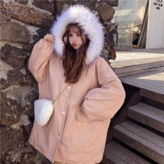 [ HOT ] Áo khoác kaki lót lông túi hộp mũ lông trắng dày ấm