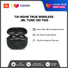 Tai Nghe True Wireless JBL Tune 120 TWS l JBL Pure Bass Sound l Driver 5.8mm l 16h phát nhạc l Trợ lý áo Siri/ Google Assistant