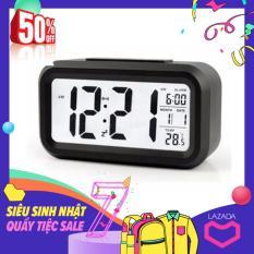 Đồng hồ báo thức kỹ thuật số với đèn LED nền cảm biến đa chức năng LC01