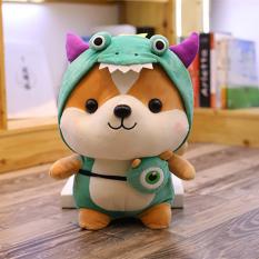 Gấu bông hình chú chó bông Shiba đáng yêu vải nhung mềm mại cao cấp