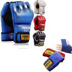 Combo Găng Tay MMA Hở Ngón + Băng Đa Cuốn Tay Walon Loại Xịn – Thiết bị tập boxing, mma chuyên nghiệp – Dành cho dân chuyên, phòng tập, võ đường