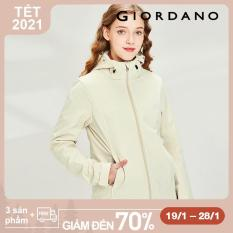 Giordano Women Jackets Bonded Polar Fleece-Lined Hooded Jackets Windproof Quality Zip Front Warm Jackets Free Shipping 05370726