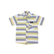 Áo sơ mi bé trai tay ngắn phong cách thời trang sọc ngang dễ phối đồ với kaki quần sọt SN001 – cho bé từ 5 đến 14 tuổi