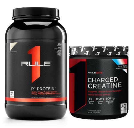 Combo tăng cân & sức mạnh Rule 1 Protein 2.4lb (38 servings) & Rule 1 Charged Creatine 30 servings