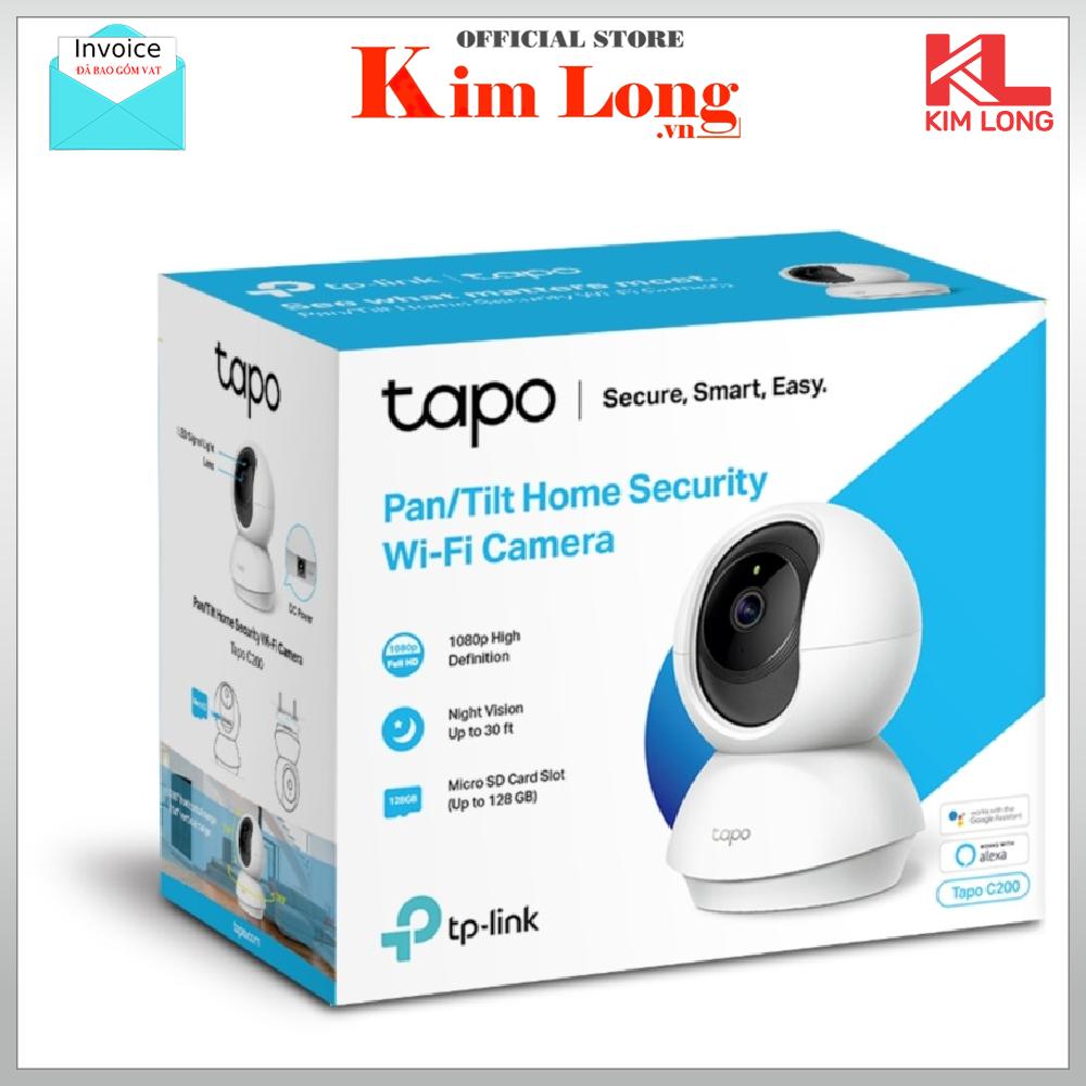 TP-Link Wifi Camera IP Wifi Full HD 1080P Smart IR Tapo C200 – Camera giám sát chính hãng TP Link bảo hành 2 năm 1 đổi 1 – IP Camera – Camera wifi
