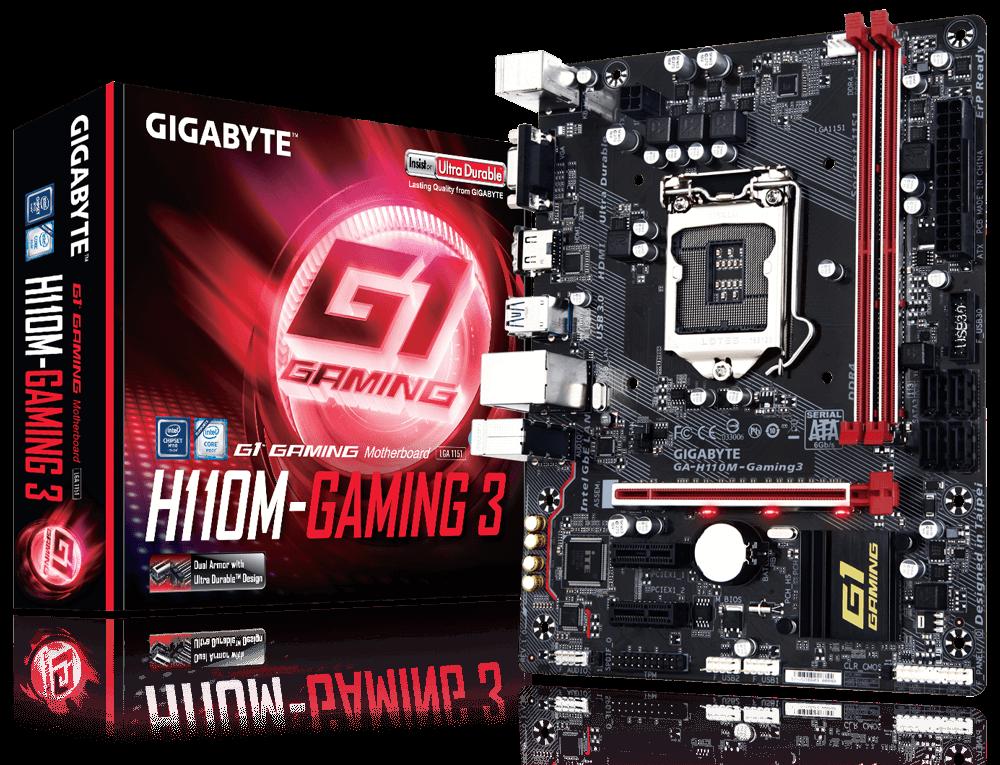 Main Gigabyte H110M-Gaming 3 – HÀNG NEW BẢO HÀNH 36 THÁNG – DÒNG CHUYÊN GAME CÓ HDMI