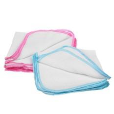 Combo 10 khăn sữa sơ sinh 2 lớp KIBA 100% cotton hàng Việt Nam, khăn xô, vệ sinh cho bé (KIBA02), Huy Linh