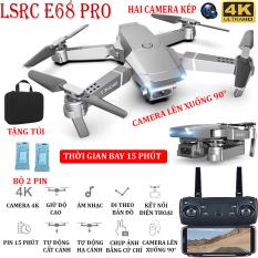 (BỘ 2 PIN + TẶNG TÚI ĐƯNG) Flycam, Flycam điều khiển Giá Rẻ, Flycam mini E68 PRO Camera 4K Hai camera kép , thời gian bay 15 phút, Động cơ mạnh mẽ camera chống rung quang học camera điều chỉnh lên xuống 90° – BẢO HÀNH 3 THÁNG