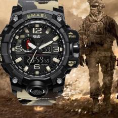 Đồng hồ thể thao nam chống nước phong cách Army Smael 176808 Camo Khaki Bảo Hành 12 tháng