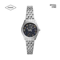 Đồng hồ nữ Fossil Scarlette Mini Three-Hand Date dây thép không gỉ ES5061 – màu bạc