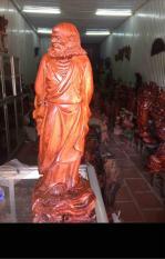 Tượng Đạt Ma gỗ hương