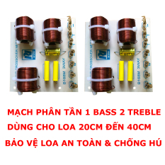 Combo 02 mạch phân tần B168M ngõ ra 1 Bass, 2 Treble bảo vệ loa và chống hú hiệu quả