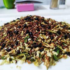 Trà hoa ngũ cốc (gạo lứt, đậu đen xanh lòng , đậu đỏ ,hoa nhài) RANG SẴN -1KG