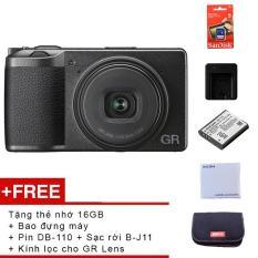 Máy ảnh Compact Ricoh GR III – Tặng thẻ nhớ 16GB + Bao đựng máy + Pin DB-110 + Sạc rời B-J11 + Kính lọc chuyên dụng cho GR Lens