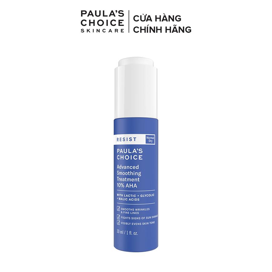 Lotion tẩy da chết làm sáng và căng bóng da Paula's Choice RESIST Advanced Smoothing Treatment 10% AHA-7651
