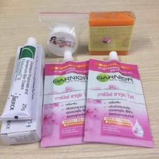 Bộ 5 món dưỡng trắng trị nám tàn nhan garier Thái Lan
