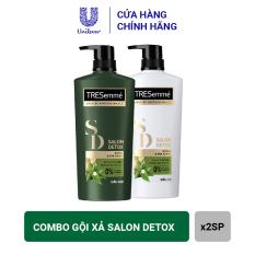 Bộ Sản Phẩm Dầu Gội và Dầu Xả Detox Tóc Chắc Khỏe Tresemmé Salon Detox : Gội 640gr Xả 620gr