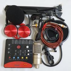 Bộ Combo mic livestream hát karaoke micro takstar PC-k200 card icon upod.pro dây MA2 màng lọc chân kẹp tặng tai nghe 450
