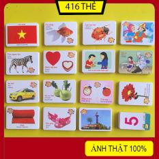 Bộ Thẻ Học Thông Minh 416 Thẻ 16 Chủ Đề Song Ngữ Anh-Việt Theo Phương Pháp Glenn Doman