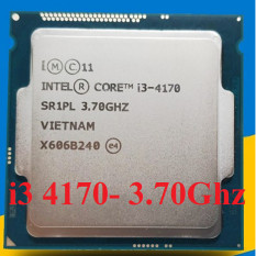 Bộ vi xử lý Intel Core i3 4170 ; 4160; 4150; 4130 socket 1150 Dùng cho main h81, b85, Q87 …. Bảo hành 1 tháng.