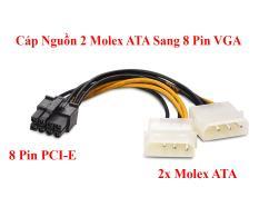 Cáp Nguồn 2 Molex ATA Sang 8 pin Cho Card Đồ Họa VGA