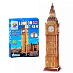 Mô Hình Giấy 3D Magic Puzzle: Tháp Đồng Hồ Big Ben G268-36