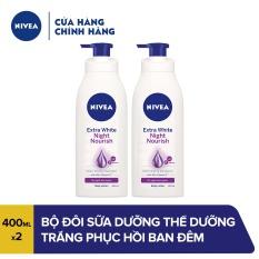 [Freeship HCM] Bộ đôi Sữa dưỡng thể dưỡng trắng phục hồi da ban đêm 88126 (400ml x 2)
