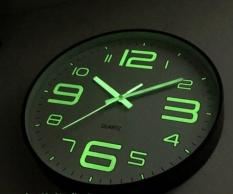 Đồng hồ treo tường dạ quang – phản quang – phát sáng đêm – kim trôi – loại 30cm