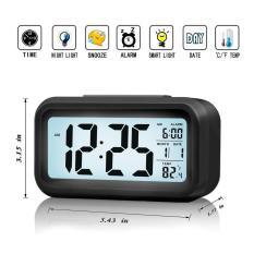 [ XẢ KHO 3 NGÀY ] Đồng hồ thông minh – Đồng hồ báo thức điện tử kỹ thuật số để bàn với đèn LED nền cảm biến đa chức năng LC01 ( Màu đen )