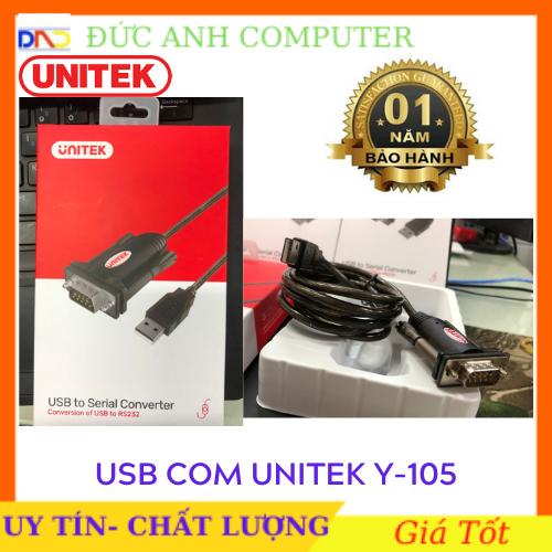 Cáp USB to Com RS232 Unitek Y – 105 Chính Hãng UNITEK Bảo Hành 12 Tháng 1 Đổi 1