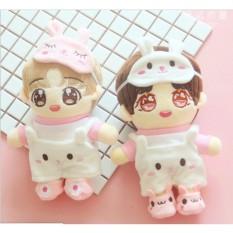 Set 4 món đồ doll siêu cute outfit cho doll doll 20-22cm (B2B06)