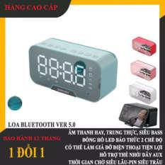 Loa Bluetooth KIMISO K10 Màn Hình Led, Kiêm Đồng Hồ Báo Thức, Mặt Gương Sáng Bóng, Sang Trọng, Âm thanh chuẩn. bảo hành 12 tháng