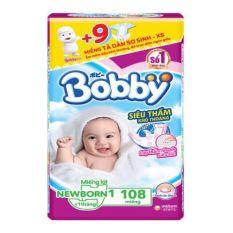 Miếng lót sơ sinh Bobby Newborn 1 – 108 miếng