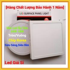 Đèn Led Ốp Trần Nổi 24W-18W Tròn/Vuông Siêu Sáng – Tiết Kiệm Điện Năng [Bảo Hành 1 Năm]