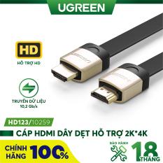 Cáp HDMI dạng dây dẹt hỗ trợ 2K*4K hình ảnh 3D dài 1-5M UGREEN HD123 – Hàng phân phối chính hãng – Bảo hành 18 tháng