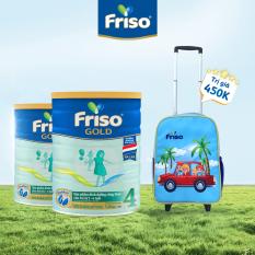 [Mua ĐH 800k giảm 40K] [Mẫu mới] Bộ 2 lon sữa Bột Friso Gold 4 lon thiếc 1.4KG – cho trẻ từ 2-6 tuổi + Tặng vali kéo cho bé