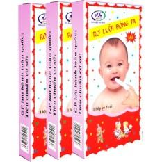 Combo 10 hộp (50 chiếc) rơ lưỡi Đông Fa 3 con nai cho bé