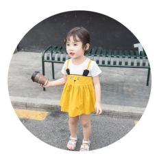 Đầm Thiết Kế cho bé gái họa tiết Bé thỏ phong cách Hàn Quốc Siêu Đáng Yêu mùa hè 2019 cho bé từ 1 – 6 tuổi [ KidsShopSG ]