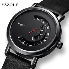 Đồng hồ nam Yazole 509 dây da sang trọng, kim chạy dọc