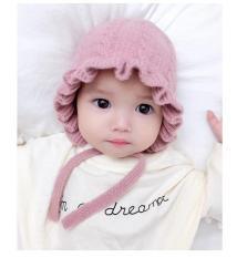Mũ len tai bèo công chúa cho bé siêu xinh(6 tháng- 4 tuổi)