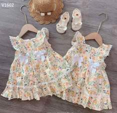Váy hoa nơ cánh tiên cho bé gái cực xinh