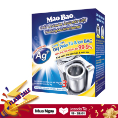 Vệ Sinh Máy Giặt Mao Bao Dạng Bột Chứa Ion Bạc 306G X3 gói (Cho 3 Lần Vệ Sinh) diệt khuẩn 99,9%