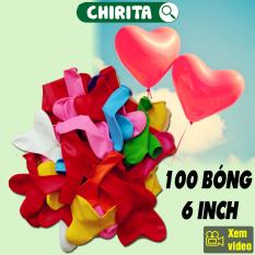 100 Bong Bóng Hình Trái Tim – Bóng Bay Balloon Trái Tim Nhiều Màu, Bong Bóng Trang Trí Sinh Nhật, – BKH6100