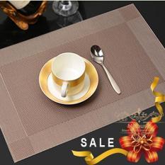 Bộ 4 tấm khăn lót chén dĩa bàn ăn (Màu nâu kim)