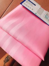 Rèm Phòng Tắm / Rèm Cửa Sổ Hồng Sọc bóng 180cm X 180cm Loại 1( Ảnh + Video thật )